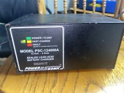 Power Sonic Automatic Battery Charger Psc-124000a-c 12v Volt-4000 Ma