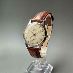 Good Operation Smith Astral Antique Wristwatch Mens 1961 Hand-wound