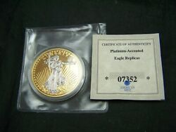 2012 American Mint 1933 Gold Plated And Platinum Double Eagle Proof Liberty Coin
