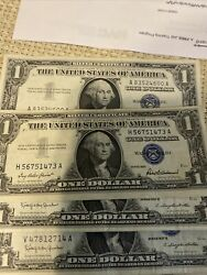 One Dollar 1957 Silver Certificates 38 Of Them Mint
