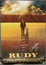 Rudy Ruettiger Autographed Signed Rudy Movie Poster 11-8-75 Special Inscription
