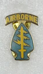 Special Forces Teal Tab Di Patch Type Pin 3180 - C/b Nhm