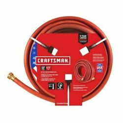 Craftsman 5/8-in X 50-ft Premium-duty Rubber Red Hose 300psi Made In Usa
