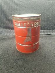 Vintage Hills Brothers Bros Drip Grind Coffee Tin 2 Pounds Lbs