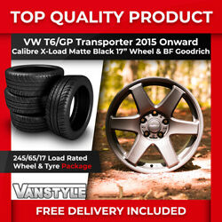 For Vw T6 Gp Calibre X-load 17 Load Rated Wheels Matte Black Bf Goodrich 245/65