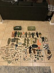 Huge Vintage Lot Of 60s And 70s Gi Joes With Tons Of Accessories All Original