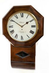 Antique Fusee Wall Clock By John Barwise 1810.