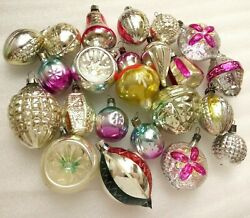 22 Vintage Ussr Glass Russian Christmas Ornaments Xmas Tree Decorations Old Set