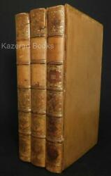 Antique 3 Volume Leather Book Set Gleanings Of Natural History E Jesse 1835