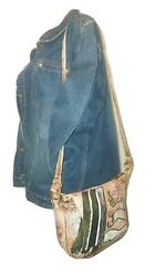 Botary Purse Vtg Handpainted Abstract Leather Magnetic Snap Flap Shoulder Bag