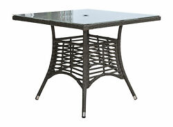 Panama Jack Graphite Square Dining Table With Frost Glass Pjo-1601-gry-sq