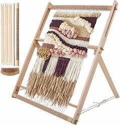 Weaving Loom Kit LARGE With Stand Wooden Looming Set Tapestry Loom Kit AN