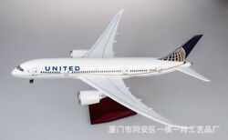 1/130 Scale United Airlines Boeing 787 Passanger Aircraft Model 43cm Resin Plane