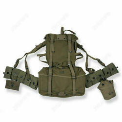Wwii Us Army Soldier Usmc M1945 Mountain Troops Canvas Rucksack Gear Combination