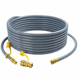 36 Feet Natural Gas Hose With 3/8 Inch Quick Connect/disconnect Fittings For