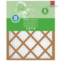 True Blue Air Filter 18x24x1 Inch Basic Fpr 5 Pleated Indoor Dust Cleaner 4 Pack