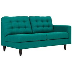 Modway Empress Right Facing Upholstered Fabric Loveseat In Teal Eei-2595-tea