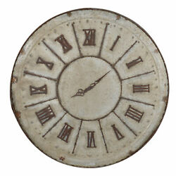 Ab Home Southern Living Wall Clock In White 31384