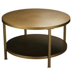 Jamie Young Alloy Coffee Table In Antique Brass Metal 20allo-cofab