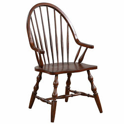 Sunset Trading Andrews Windsor Dining Chair With Arms Dlu-adw-c30a-ct