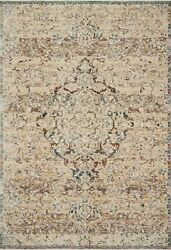 Loloi Lourdes 11and039-6 X 15and039-7 Ivory And Multi Rug Lourlou-06ivmlb6f7