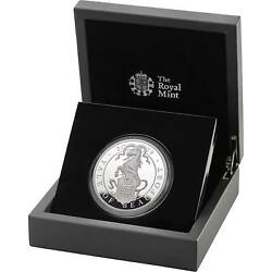 Uk Great Britain £10 2019 Proof 5oz. Queen's Beasts The Yale Of Beaufort Mtg.250