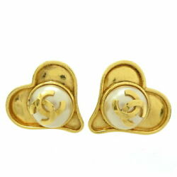 Coco Heart Pearl Women And039s Earring Gp Gold Dh61889 Dai No.7643