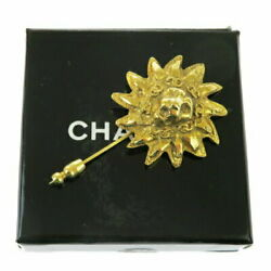 Pin Brooch Gold Metal With Storage Box 32bq943 Previously Owned No.9271