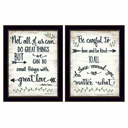 Trendydecor4u Great Love 2-piece Vignette By Annie Lapoint Wall Art V438-712