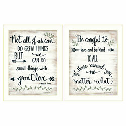 Trendydecor4u Great Love 2-piece Vignette By Annie Lapoint Wall Art V438-712w