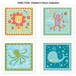 Trendydecor4u Children's Room Collection By Annie Lapoint Wall Art V306-712w
