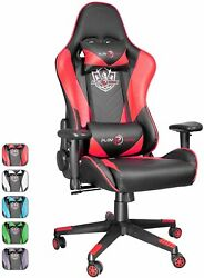 Ergonomic Gaming Racing Chair Leather Computer Office Seat Swivel Recliner