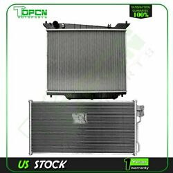Fits Ford Lincoln Navigator Replacement Radiator And Condenser Cooling Assembly