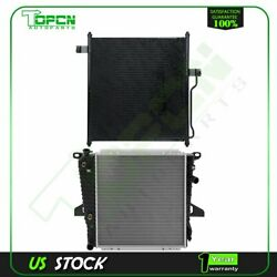 Fits 1997-2001 Ford Explorer Replacement Radiator And Condenser Assembly
