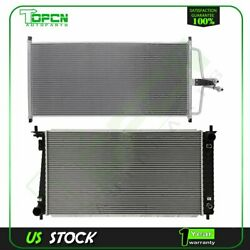 Fits Ford F-150 F-250 Replacement Radiator And Condenser Assembly