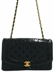 Gold Fittings Diana Matelasse Chain Shoulder Bag A01165 Women And039s No.1460