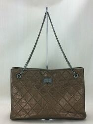 2.55 Chain Tote Leather Brw 12941567 Threaded Bag Previously No.1792