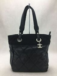 Tote Back Leather Blk A34208 Paryl Fritz Pm Coco Charm Secast No.1930