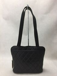 Bag Leather Blk Plain Bag Previously Owned From Japan Fedex No.1807