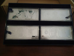 Washington Mint .999 Silver 100 50 20 10 5 2 And 1 Bill Set And Wood Case And Key