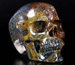 6.2 Blue Gold And Red Pietersite Carved Crystal Skull Super Realistic528