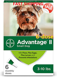 Advantage Ii Dog-6-dose-whole Body Prevention /treatment For Small Dogs 3-10 Lbs