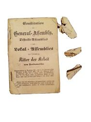 Constitution General Assembly District Local Knights Of Labor N America 1800s...