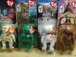 Extremely Rare 1997 Ty Beanie Babies. Ronald Mcdonald House Charities All Four