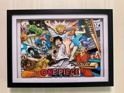 Anime Cel Free Shipping One Piece Picture Frame Custom-made Finished Genga