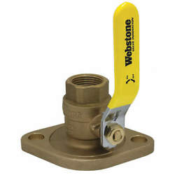 Webstone 41406hv Rotating Flanged Ball Valve,1-1/2in