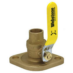 Webstone 51406hv Rotating Flanged Ball Valve,1-1/2in