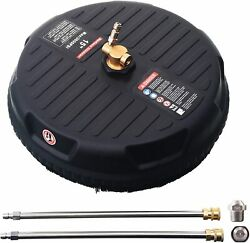 15 Inches Pressure Washer Surface Cleaner W/ 2 Extension Wand And Nozzle 3600 Psi