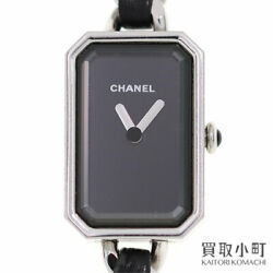 Premiere Rock Stainless Steel And Black Leather Watch No.8417