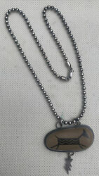Rare Beautiful Signed Native Sterling Sliver Necklace